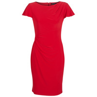 Textiel Dames Korte jurken Lauren Ralph Lauren SHORT SLEEVE JERSEY DAY DRESS Rood