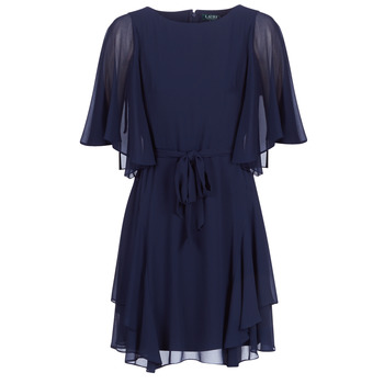 Textiel Dames Korte jurken Lauren Ralph Lauren NAVY-3/4 SLEEVE-DAY DRESS Marine