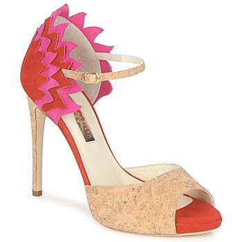 Schoenen Dames Sandalen / Open schoenen Rupert Sanderson FLAMANTE Rood / Zwart