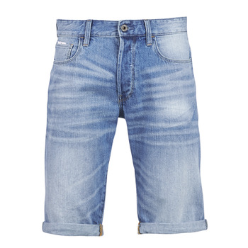Textiel Heren Korte broeken / Bermuda's G-Star Raw 3302 12 Blauw / Light / Aged