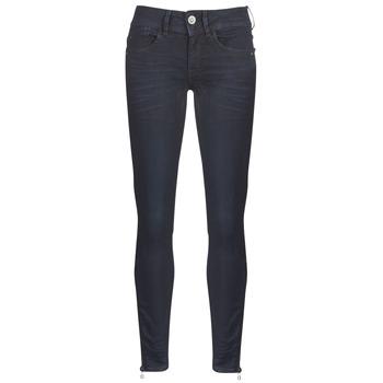 Textiel Dames Skinny Jeans G-Star Raw LYNN ZIP MID SKINNY ANKLE Blauw / Dark / Aged / Cobler