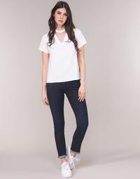 Textiel Dames Straight jeans G-Star Raw MIDGE SADDLE MID STRAIGHT Blauw / Dark / Aged