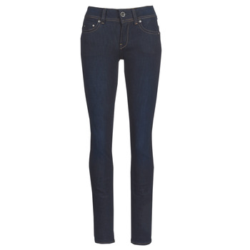 Textiel Dames Straight jeans G-Star Raw MIDGE SADDLE MID STRAIGHT Blauw / Dark / Aged