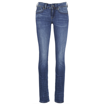 Textiel Dames Straight jeans G-Star Raw MIDGE SADDLE MID STRAIGHT Blauw / Medium / Indigo / Aged