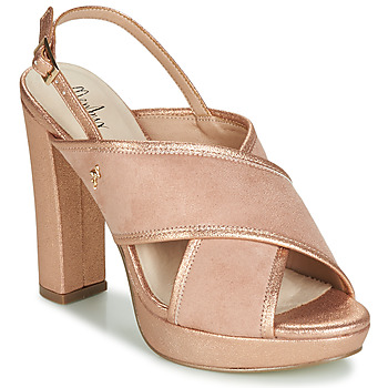 Schoenen Dames Sandalen / Open schoenen Menbur VILLALBA Roze / Gold