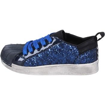 Schoenen Meisjes Lage sneakers Holalà sneakers blu glitter vernice BT330 Blu