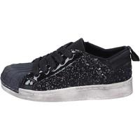 Schoenen Meisjes Lage sneakers Holalà sneakers nero glitter vernice BT331 Nero