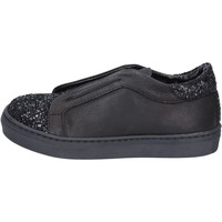 Schoenen Meisjes Instappers Holalà sneakers nero pelle glitter BT357 Nero