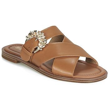 Schoenen Dames Leren slippers MICHAEL Michael Kors FRIEDA SLIDE Brown