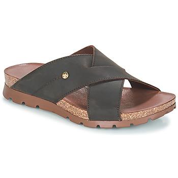 Schoenen Heren Leren slippers Panama Jack SALMAN Brown