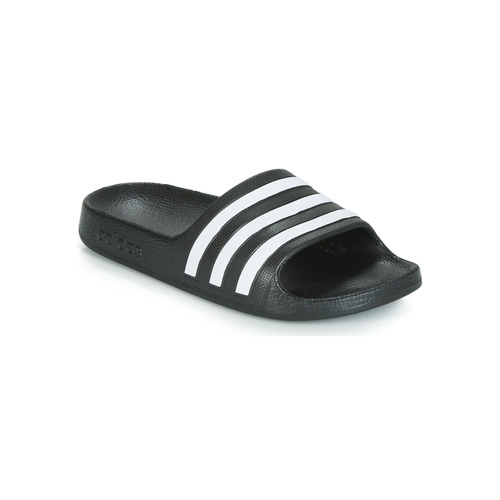 Schoenen Kinderen Slippers adidas Performance ADILETTE AQUA K Zwart / Wit