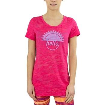 Textiel Dames T-shirts korte mouwen Reebok Sport RH Burnout Tshirt Rose