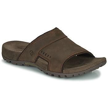 Schoenen Heren Leren slippers Merrell SANDSPUR LEE SLIDE Brown