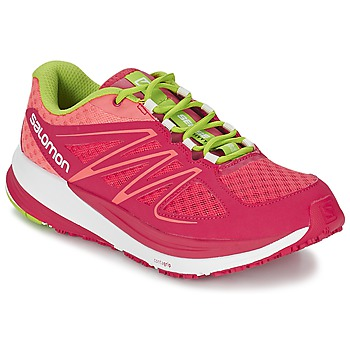 Schoenen Dames Running / trail Salomon SENSE PULSE WOMAN Roze / Orange / Groen