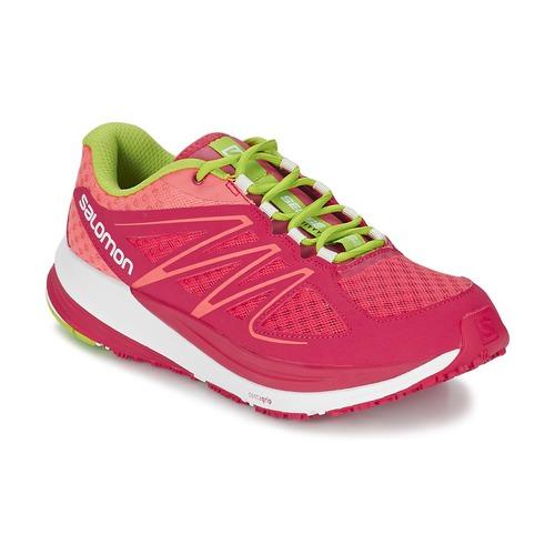 Schoenen Dames Running / trail Salomon SENSE PULSE WOMAN Roze / Orange / Groen