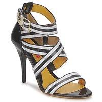 Schoenen Dames Sandalen / Open schoenen Charles Jourdan BARBARA Zwart / Wit