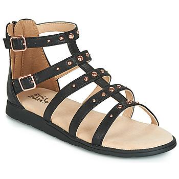 Schoenen Meisjes Sandalen / Open schoenen Bullboxer AGG021 Zwart