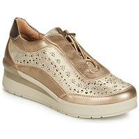 Schoenen Dames Lage sneakers Stonefly CREAM 15 LAMINATED LTH Goud
