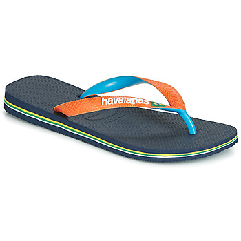 Schoenen Slippers Havaianas BRASIL MIX Marine / Orange