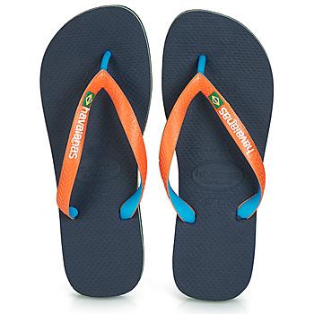 Schoenen Slippers Havaianas BRASIL MIX Marine / Orange