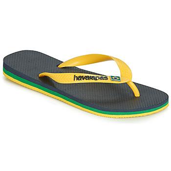 Schoenen Slippers Havaianas BRASIL LAYERS Marine