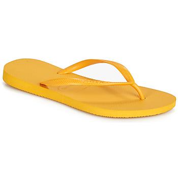 Schoenen Dames Slippers Havaianas SLIM Geel
