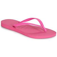 Schoenen Dames Slippers Havaianas SLIM Roze