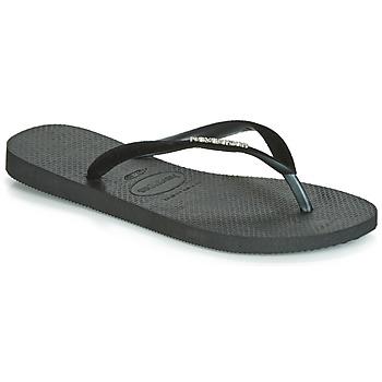 Schoenen Dames Slippers Havaianas SLIM VELVET Zwart