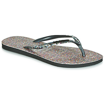 Schoenen Dames Slippers Havaianas SLIM CARNAVAL Zwart
