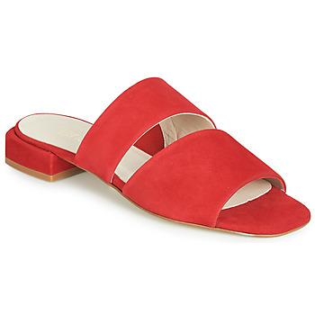 Schoenen Dames Leren slippers Fericelli JANETTE Rood