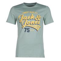 Textiel Heren T-shirts korte mouwen Jack & Jones JJELOGO Groen