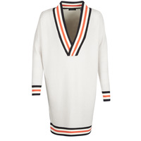 Textiel Dames Truien Maison Scotch WHITE LONG SLEEVES Wit / Creme
