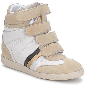 Schoenen Dames Hoge sneakers Serafini MANATHAN SCRATCH WIT-BEIGE-BLAUW