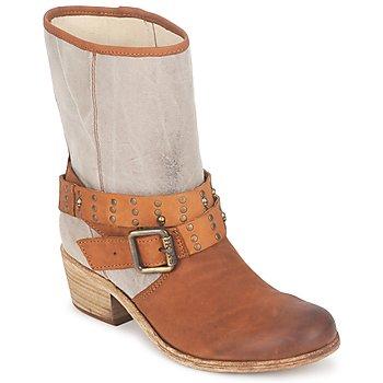 Schoenen Dames Hoge laarzen Ikks INES Brown / TAUPE