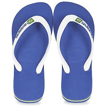 Schoenen Slippers Havaianas BRASIL LOGO Wit / Marine
