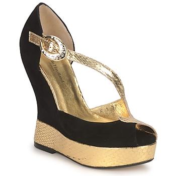 Schoenen Dames Sandalen / Open schoenen Terry de Havilland PENNY Zwart-goud