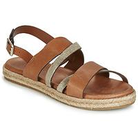 Schoenen Dames Sandalen / Open schoenen Pataugas LOU Cognac / Goud