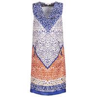 Textiel Dames Korte jurken Derhy FORTERESSE Wit / Blauw / Orange
