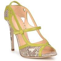 Schoenen Dames Sandalen / Open schoenen Roberto Cavalli RPS678 Python / Groen