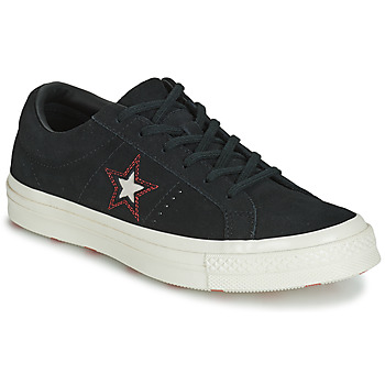 Schoenen Dames Lage sneakers Converse ONE STAR LOVE IN THE DETAILS SUEDE OX Zwart