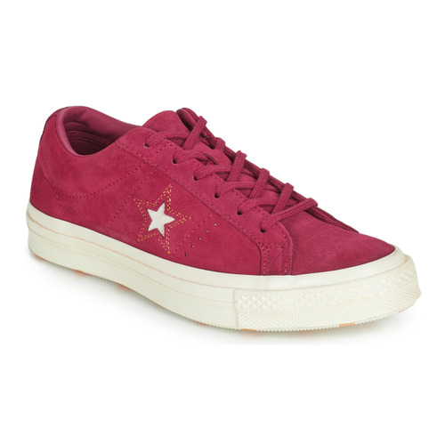 Schoenen Dames Lage sneakers Converse ONE STAR LOVE IN THE DETAILS SUEDE OX Fushia