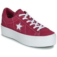 Schoenen Dames Lage sneakers Converse ONE STAR PLATFORM SUEDE OX  fuchsia / Wit