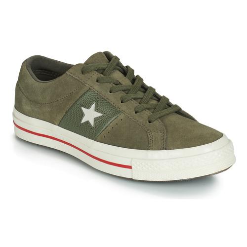 Schoenen Dames Lage sneakers Converse ONE STAR CUIR FASHION BALLER SUEDE OX Kaki