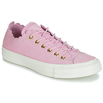 Schoenen Dames Lage sneakers Converse CHUCK TAYLOR ALL STAR FRILLY THRILLS SUEDE OX Roze