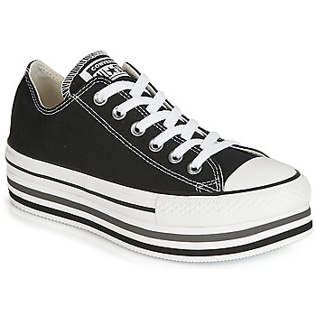 Schoenen Dames Lage sneakers Converse CHUCK TAYLOR ALL STAR PLATFORM EVA LAYER CANVAS OX Zwart