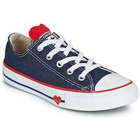Schoenen Meisjes Lage sneakers Converse CHUCK TAYLOR ALL STAR SUCKER FOR LOVE DENIM OX Blauw