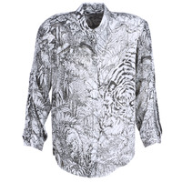 Textiel Dames Overhemden Ikks BN12085-11 Wit / Zwart