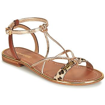 Schoenen Dames Sandalen / Open schoenen Les Tropéziennes par M Belarbi HIRONDEL Leopard / Goud