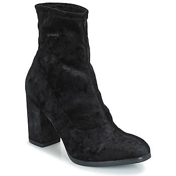 Schoenen Dames Enkellaarzen Caprice   zwart / Fluweel