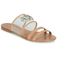 Schoenen Dames Leren slippers KG by Kurt Geiger PIA VINYL SANDAL  camel